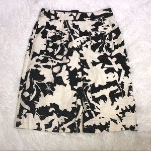 Etcetera Black And White A line Skirt Size 2
